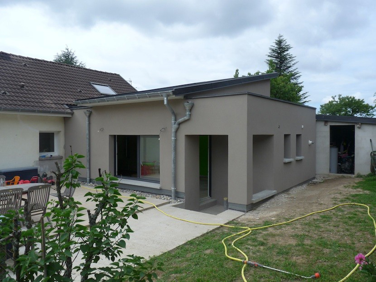 Extension d 39 une maison ad quadratum architecture design ma trise - Extension d une maison ...