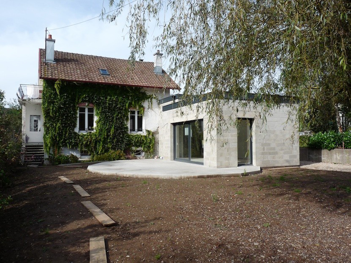 Extension d 39 une maison ad quadratum architecture Extension maison traditionnelle